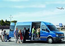 passenger blue car